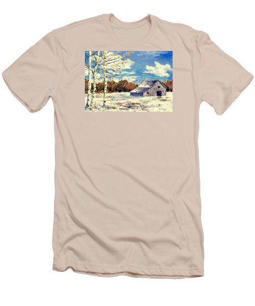 Grandma's Barn Men's T-Shirt (Slim Fit) by Lou Ann Bagnall