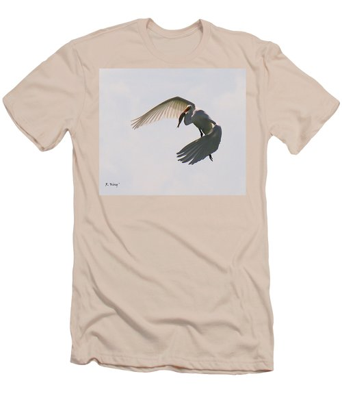 Great Egret Successful Fishing Men's T-Shirt (Athletic Fit)