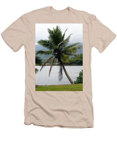 Men's T-Shirt (Slim Fit) featuring the photograph Hawaiian Palm by Athena Mckinzie