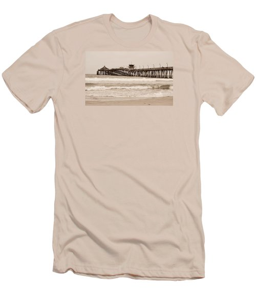 Men's T-Shirt (Slim Fit) featuring the photograph Imperial Beach by Rima Biswas