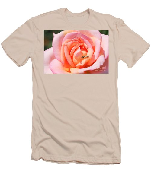 Men's T-Shirt (Slim Fit) featuring the photograph In Search Of Nectar by Fotosas Photography