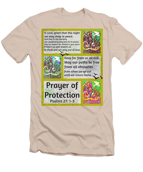 Jewish Prayer Of Protection City Of Jerusalem Gold Men's T-Shirt (Athletic Fit)