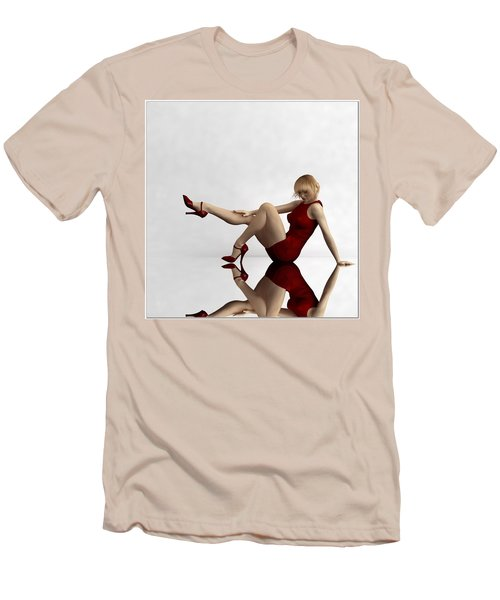 Lady In Red... Men's T-Shirt (Athletic Fit)