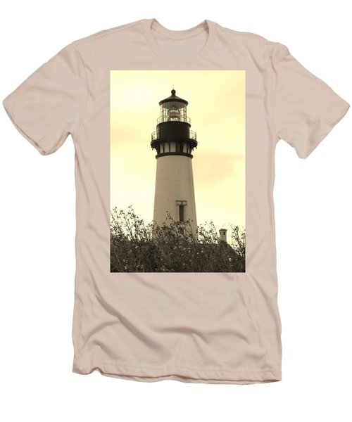 Lighthouse Tranquility Men's T-Shirt (Slim Fit) by Athena Mckinzie
