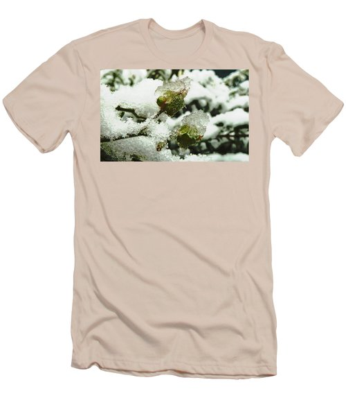 Men's T-Shirt (Slim Fit) featuring the photograph Liquid Crystal  by Steve Taylor