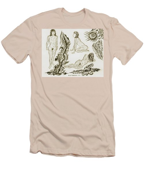 Live Nude 17 Female Men's T-Shirt (Athletic Fit)