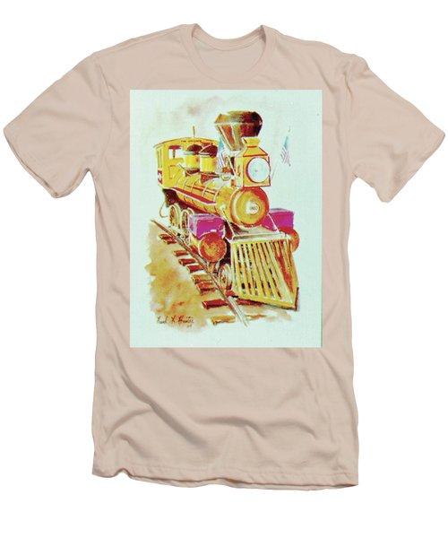 Locomotive Men's T-Shirt (Slim Fit) by Frank Hunter
