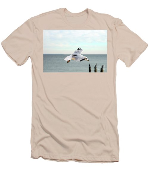 Men's T-Shirt (Slim Fit) featuring the photograph Looking For Dinner by Clayton Bruster