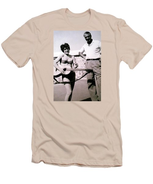 Mama Chris And Gary Cooper In Monte Carlo 1958 Men's T-Shirt (Athletic Fit)