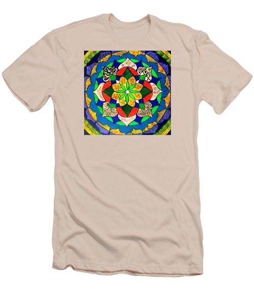 Mandala Circle Of Life Men's T-Shirt (Slim Fit)