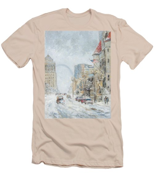 Market Street In Winter In St.louis Men's T-Shirt (Athletic Fit)