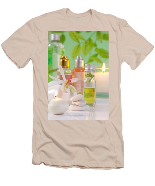 Massage Spa Concepts Men's T-Shirt (Slim Fit) by Atiketta Sangasaeng