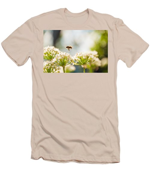 Men's T-Shirt (Slim Fit) featuring the photograph Mid-pollenation by Cheryl Baxter