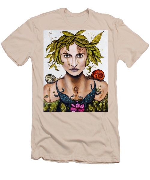 Mother Nature Deep Contrast Men's T-Shirt (Athletic Fit)