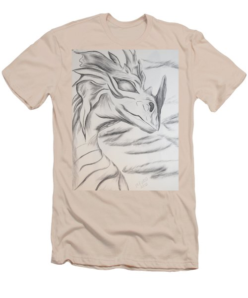 Men's T-Shirt (Slim Fit) featuring the drawing My Dragon by Maria Urso