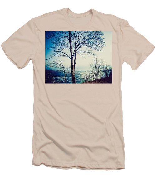 Mystic Blue Men's T-Shirt (Slim Fit) by Sara Frank