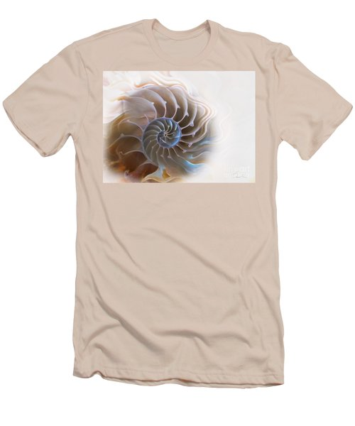 Natural Spiral Men's T-Shirt (Slim Fit) by Danuta Bennett