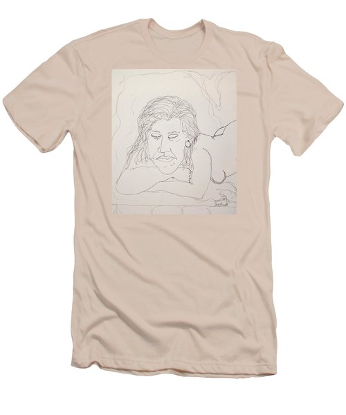 Nude Contour In Ink Men's T-Shirt (Athletic Fit)