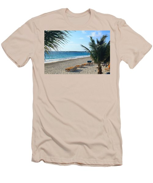 Men's T-Shirt (Slim Fit) featuring the photograph Orient Beach St Maarten by Catie Canetti