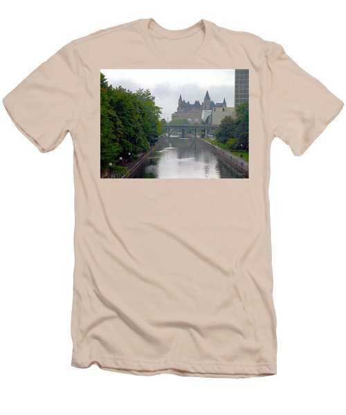 Ottawa Rideau Canal Men's T-Shirt (Slim Fit) by Valentino Visentini