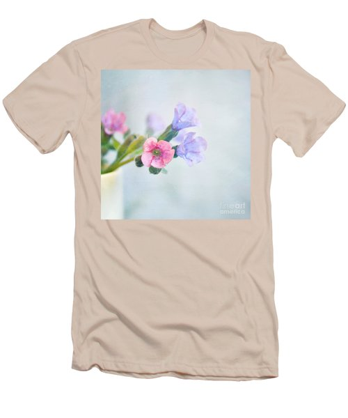 Pale Pink And Purple Pulmonaria Flowers Men's T-Shirt (Athletic Fit)