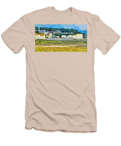 Men's T-Shirt (Slim Fit) featuring the digital art Pegwell Bay by Steve Taylor