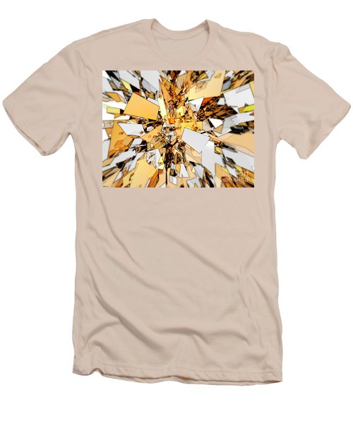 Men's T-Shirt (Slim Fit) featuring the digital art Pieces Of Gold by Phil Perkins