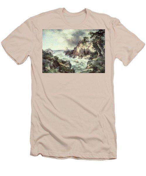 Point Lobos At Monterey In California Men's T-Shirt (Slim Fit) by Thomas Moran