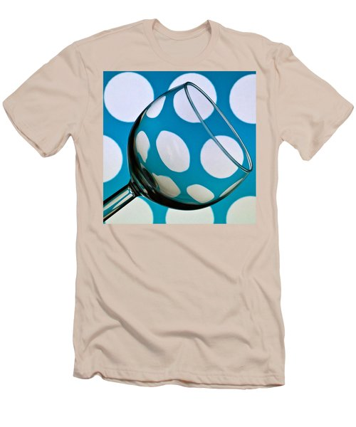 Men's T-Shirt (Slim Fit) featuring the photograph Polka Dot Glass by Steve Purnell