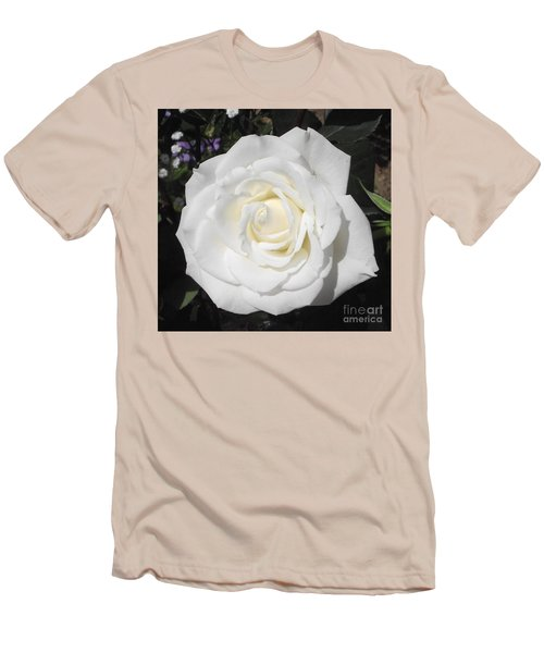 Pure White Rose Men's T-Shirt (Athletic Fit)