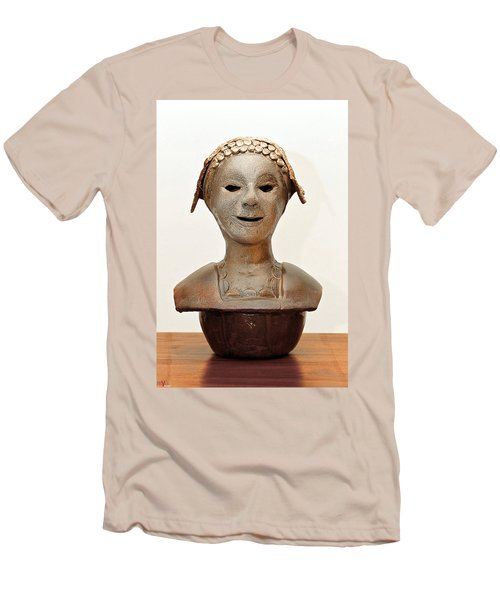 Roman Mask Torso Lady With Head Cover Face Eyes Large Nose Mouth Shoulders Men's T-Shirt (Athletic Fit)
