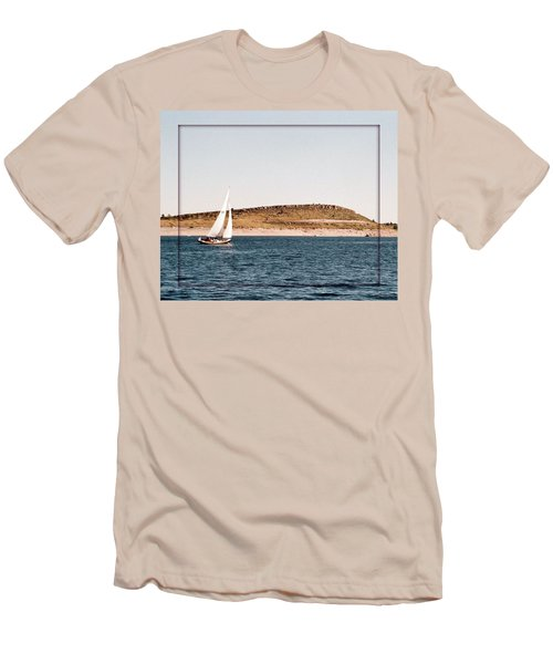 Men's T-Shirt (Slim Fit) featuring the photograph Sailing On Carter Lake by David Pantuso