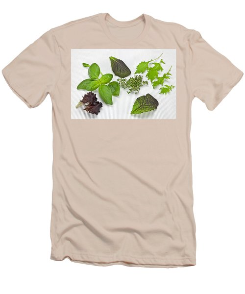 Salad Greens And Spices Men's T-Shirt (Slim Fit) by Joana Kruse