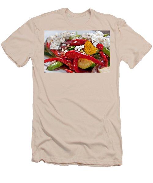 Sauteed Vegetables With Feta Cheese Art Prints Men's T-Shirt (Slim Fit) by Valerie Garner