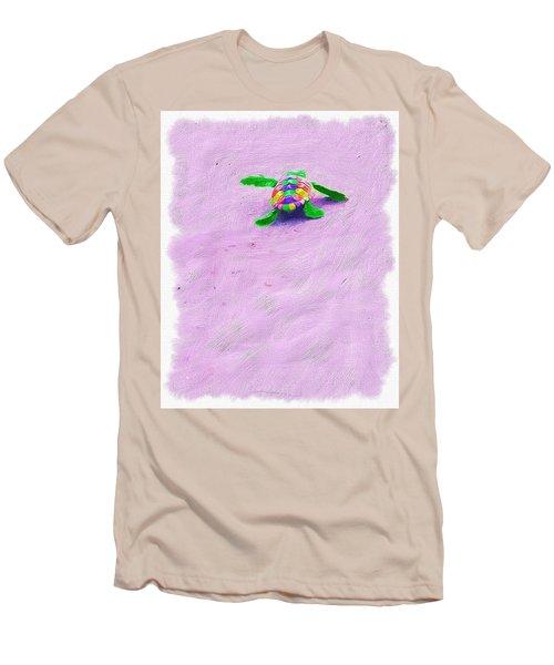 Sea Turtle Escape Men's T-Shirt (Athletic Fit)