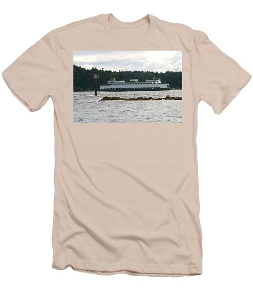 Sealth Ferryboat Rich Passage Men's T-Shirt (Slim Fit) by Kym Backland