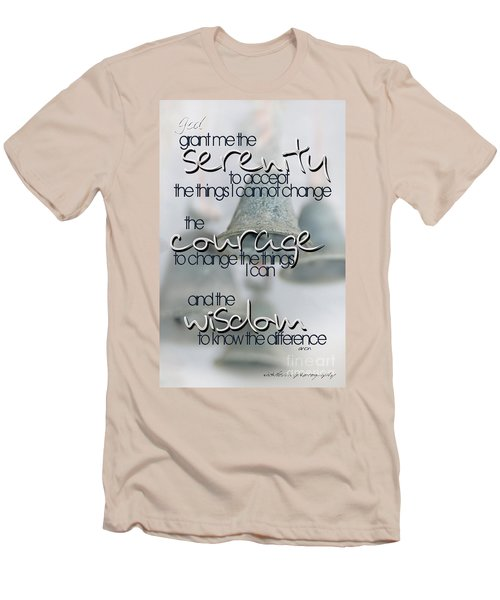 Serenity Prayer With Bells Men's T-Shirt (Athletic Fit)