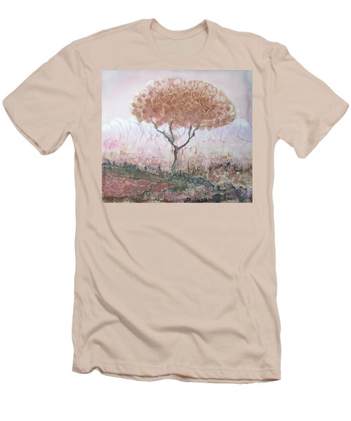 Silk Tree In Brown And Purple  Men's T-Shirt (Athletic Fit)