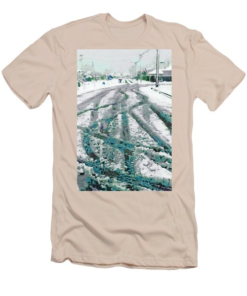 Men's T-Shirt (Slim Fit) featuring the photograph Slipping And Sliding  by Steve Taylor