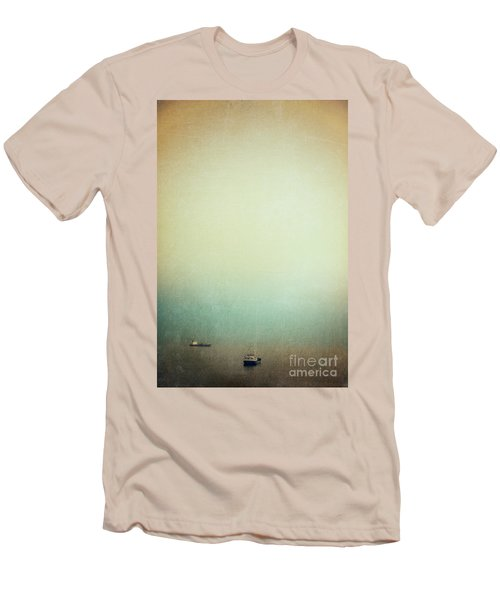 Solitary Ships Men's T-Shirt (Slim Fit) by Silvia Ganora