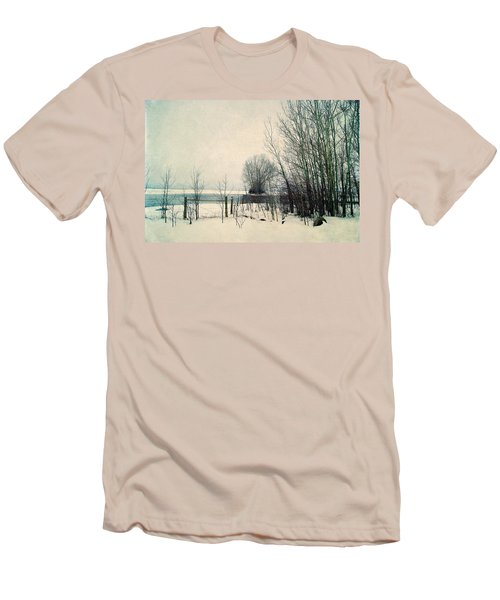 Spring Thaw Men's T-Shirt (Slim Fit) by Leanna Lomanski