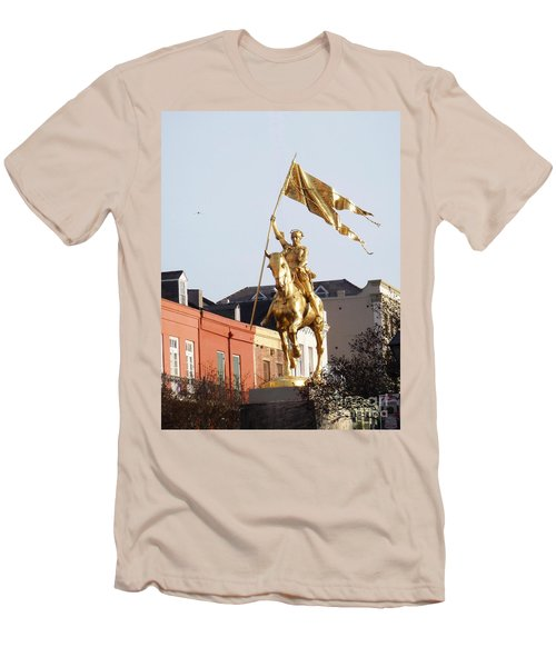 Men's T-Shirt (Slim Fit) featuring the photograph St. Joan At Dawn by Alys Caviness-Gober