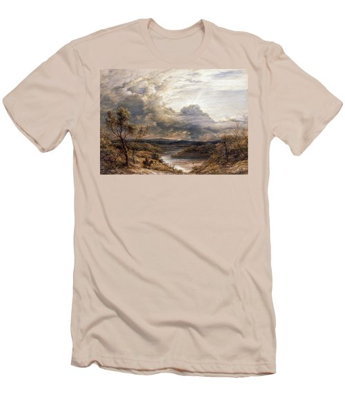Sun Behind Clouds Men's T-Shirt (Slim Fit) by John Linnell
