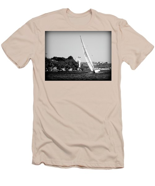 Men's T-Shirt (Slim Fit) featuring the photograph Tall Ship Race 1 by Pedro Cardona