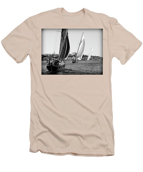 Men's T-Shirt (Slim Fit) featuring the photograph Tall Ship Races 2 by Pedro Cardona