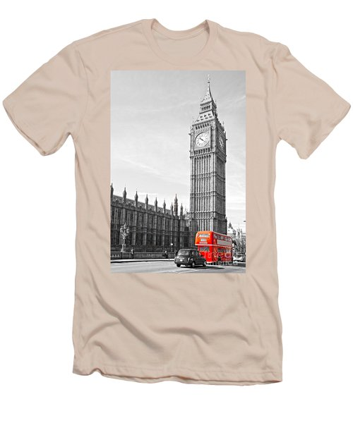 Men's T-Shirt (Slim Fit) featuring the photograph The Big Ben - London by Luciano Mortula