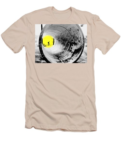 The Light At The End Of The Tunnel Men's T-Shirt (Slim Fit) by Valentino Visentini