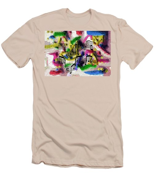 Men's T-Shirt (Slim Fit) featuring the digital art The Music In Me by Alec Drake