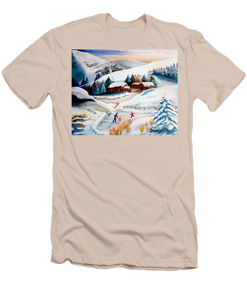 The Pond In Winter Men's T-Shirt (Athletic Fit)