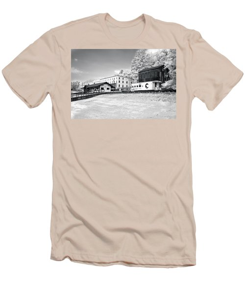 Men's T-Shirt (Slim Fit) featuring the photograph Train Depot by Mary Almond